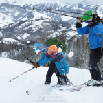 The Next Generation of Backcountry Skiers at Tornak Hut